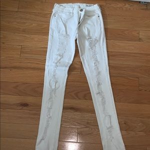 Blank nyc destroyed white jeans